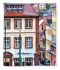 Rainy Day In Heidelberg Fleece Blanket