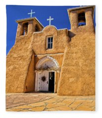 Ranchos De Taos Church  Fleece Blanket