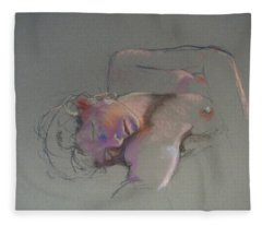 Reclining Study Fleece Blanket