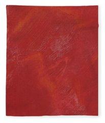 Red Field Fleece Blanket