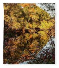 Reflections Of Trees Fleece Blanket