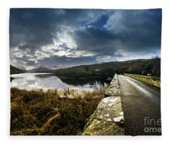Road To Snowdon Fleece Blanket