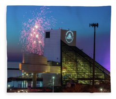 Rocking Fireworks Fleece Blanket