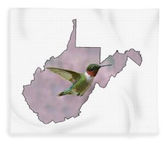 Ruby-throated Hummingbird  Beautiful Coloring Fleece Blanket