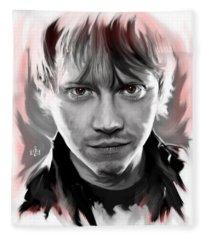 Rupert Grint As Ronald Weasley Fleece Blanket