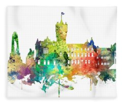 Rutherglen Scotland Skyline Fleece Blanket