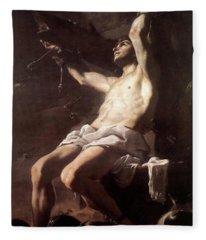 Saint Sebastian By Mattia Preti Fleece Blanket