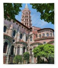 Saint Sernin Basilica Fleece Blanket