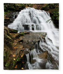 Fleece Blanket featuring the photograph Salt Springs Waterfall by Christina Rollo