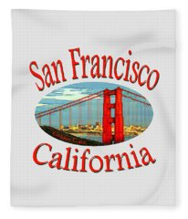 San Francisco California Design Fleece Blanket