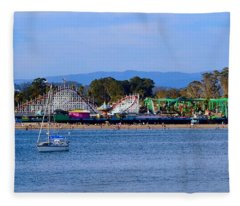 Santa Cruz Boardwalk Fleece Blanket