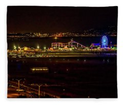 Santa Monica Pier Light Show - Series 3 Fleece Blanket
