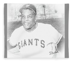 Willie Mays Fleece Blanket