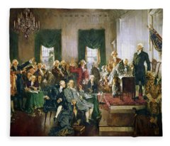 Scene At The Signing Of The Constitution Fleece Blanket