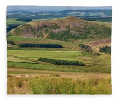 Scotland View From The English Borders Fleece Blanket