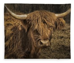 Scottish Highland Cattle Fleece Blanket