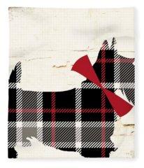 Scottish Terrier Tartan Plaid Fleece Blanket