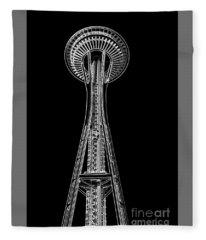 Seattle Space Needle Fleece Blanket