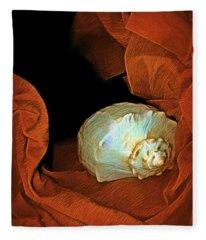 Shell On Satin Fleece Blanket