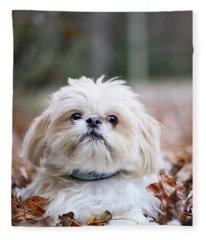 Shih Tzu Fleece Blanket