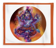 Shiva Dhyan Fleece Blanket