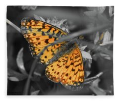 Silver Bordered Fritillary Fleece Blanket