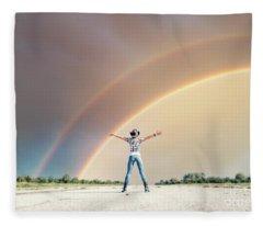 Sing Me A Rainbow Fleece Blanket