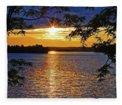 Smith Mountain Lake Summer Sunet Fleece Blanket