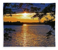 Smith Mountain Lake Summer Sunet Fleece Blanket