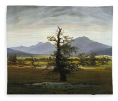 Solitary Tree Fleece Blanket