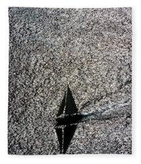 Sailing Into Solitude Fleece Blanket