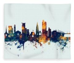 Southampton England Skyline Fleece Blanket