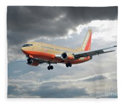 Southwest Airlines Boeing 737 Fleece Blanket