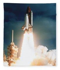 Space Shuttle Launch Fleece Blanket