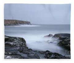 Spiddal Pier Fleece Blanket