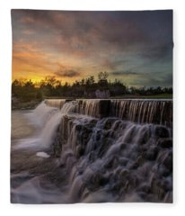 Split Rock Fleece Blanket