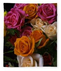 Spray Roses Fleece Blanket