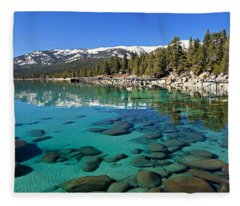 Spring Clarity Fleece Blanket