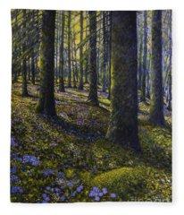 Spring Forest Fleece Blanket