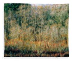 Spring Forest Fleece Blanket