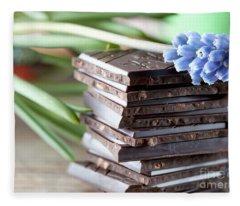Stack Of Chocolate Fleece Blanket
