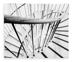 Fleece Blanket featuring the photograph Staircase by Mats Silvan