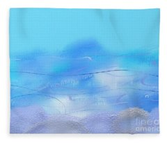 Looking At The Sea In Stensund Fleece Blanket