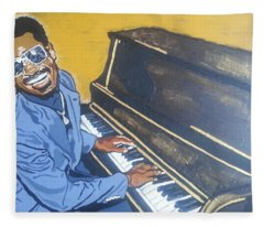 Stevie Wonder Fleece Blanket