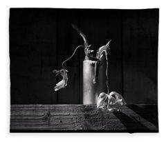Still Life With Tulip Fleece Blanket