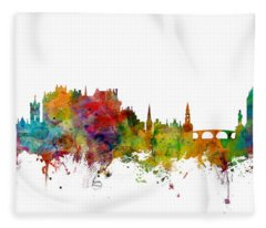 Stirling Scotland Skyline Fleece Blanket