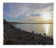 Stone Beach Fleece Blanket