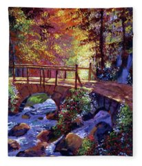 Stone Bridge At Royal Gardens Fleece Blanket
