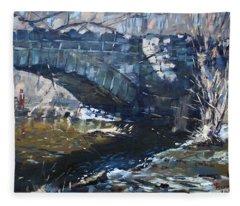 Stone Bridge At Three Sisters Islands Fleece Blanket
