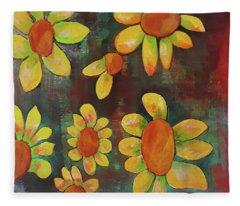 Stoned Flowers Fleece Blanket